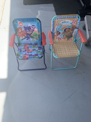 Kiddie beach lawn chairs PJ Masks and Moana for Sale in San Diego, CA