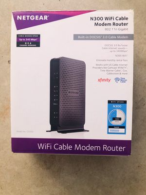 N300 WiFi cable modem router for Sale in Irvine, CA