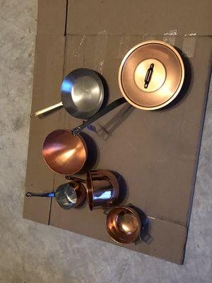 Copper Pots/Pottery Bar Pot Rack for Sale in Chantilly, VA
