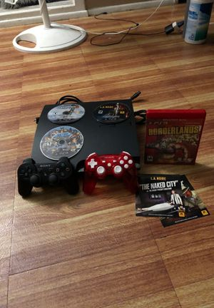 PS3 with controllers and 4 games for Sale in Garden Grove, CA