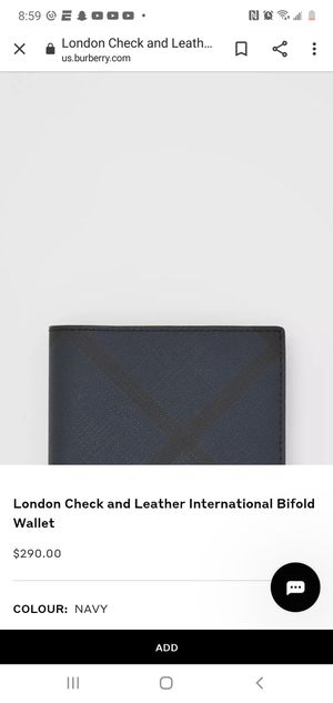 Burberry Mens bifold wallet fashion for Sale in Orlando, FL