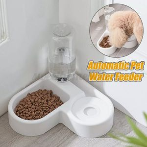 Automatic Pet Cat Dog Feeder Water and Food Bowl Set Water Dispenser Bottle Dish for Sale in Oakland, CA