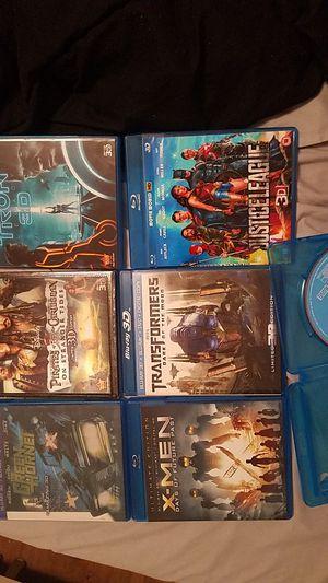 3D DVD BUNDLE MOVIE LOT OF 7 X-MEN,JUSTICE LEAGUE,TRANSFORMERS,PIRATES,GREEN HORNET,TRON,CAPTAIN AMERICA for Sale in Auburndale, FL