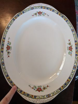 OMEGA Ivory design antique WH Grindley China Platter for Sale in Vancouver, WA