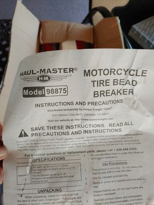 Motorcycle tire bead breaker for Sale in West Fairview, PA