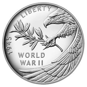 World War II 75th Anniversary Silver Coin for Sale in Los Angeles, CA