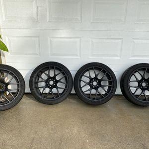 "VMR V710 Matte Black wheels 19"" with Michelin super sports. for Sale in Anaheim, CA"