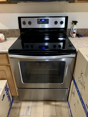 Whirpool range stove microwave dishwasher stainless for Sale in Phoenix, AZ