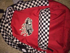 Red checkered Vans bookbag for Sale in Orlando, FL
