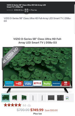 "58"" Vizieo Flat screen TV Model: D58u-D3 for Sale in Kennewick, WA"