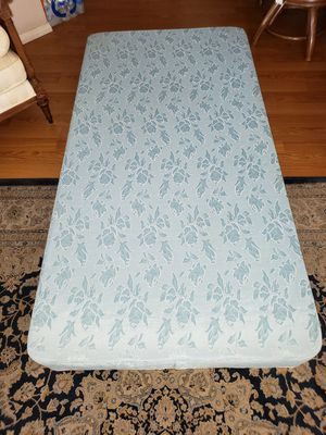 Ortho Quilted Twin Bed. Mattress, Box Springs, Bed Frame and Memory Foam Topper for Free for Sale in Placentia, CA