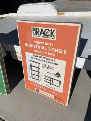 Pak Rack Heavy Duty 5-Shelving Unit Storage for Sale in Apple Valley, CA