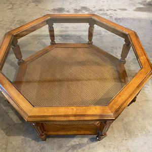 Vintage Glass Top Coffee Table for Sale in Wenatchee, WA