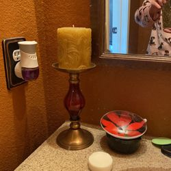 Candle stick holder with candle for Sale in Keller,  TX