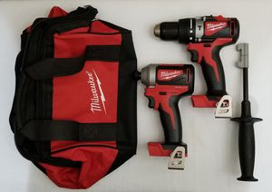 Milwaukee M18 18-Volt Lithium-Ion Brushless Cordless Hammer Drill, Impact Driver Combo with Carry Bag for Sale in Spring, TX