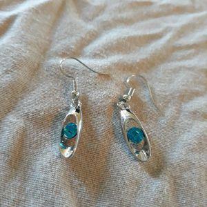 Blue Stone Stud Silver Earrings. for Sale in Dallas, TX