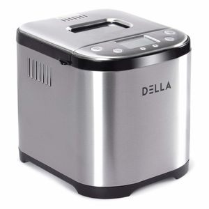2 LB AUTOMATIC BREAD MAKER STAINLESS STEEL PROGRAMMABLE BREAD MACHINE W MANUAL for Sale in Las Vegas, NV