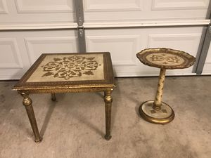 Vintage 20 th Century Italian Florentine End Tables for Sale in Progreso Lakes, TX