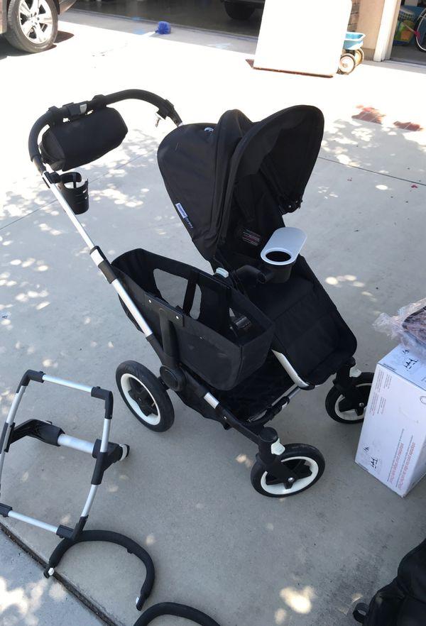 Bugaboo Donkey Original w/ extra seat, car seat adapter, etc