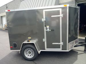 5x8 ENCLOSED VNOSE TRAILER--REAR RAMP AND SIDE DOOR--MOTORCYCLE QUAD ATV UTV BUSINESS STORAGE MOVING for Sale in Bronx, NY