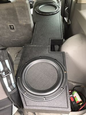 "2 12"" Kenwood Excelon 1400w (shallow mount) w/probox for truck for Sale in Dallas, TX"