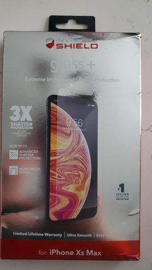 Iphone Xs Max Glass+ for Sale in Phoenix, IL
