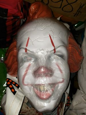 Plastic Pennywise IT Mask for Halloween for Sale in Los Angeles, CA