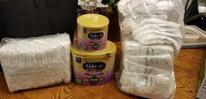 Enfamil Gentlease and Huggies newborn diapers for Sale in Fullerton, CA