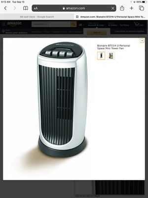 Bionaire Mini Tower Oscillating Desk Fan for Sale in Phoenix, AZ