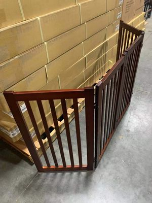 NEW IN BOX Wooden Folding Free Standing Pet Dog Fate Fence 72x32 Inches Tall 4 Panels for Sale in Los Angeles, CA