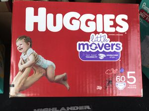 Box of Huggies Little Mover size 5 diapers $22 firm!!! for Sale in San Bernardino, CA