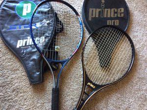 Prince Tennis Rackets**Great Condition $30 each for Sale in La Habra, CA