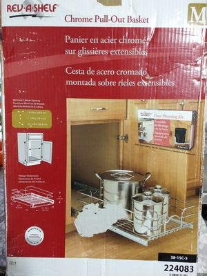 KITCHEN ★ CHROME PULL OUT BASKET • in Box BRAND NEW for Sale in Tukwila, WA