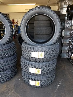 33X12.50R22 BRAND NEW TIRES $189 EACH TIRE REVOLUTION AUTO ANAHEIM for Sale in Anaheim, CA