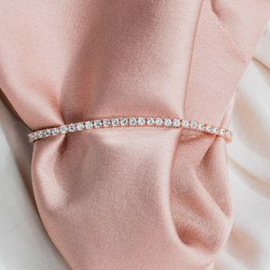 Rose Gold Plated 3mm Cubic Zirconia Bracelet for Women for Sale in Corona, CA