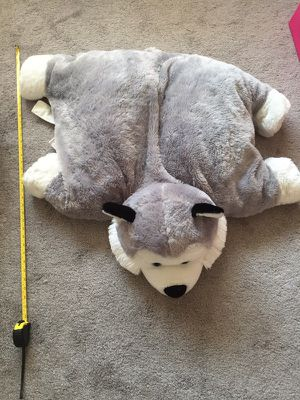 Large plush pillow husky toy for Sale in Long Beach, CA