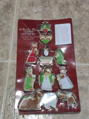 Nativity story cookie cutter set NEW for Sale in Sacramento, CA