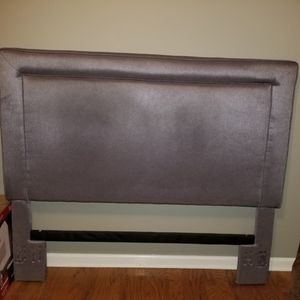 Grey Queen Headboard With Iron Frame for Sale in Lawrenceville, GA