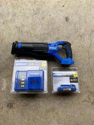 Kobalt Brushless sawzall or reciprocating saw with charger and battery NEW! for Sale in Bothell, WA