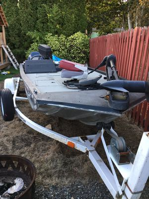 Bass tracker boat for Sale in Federal Way, WA
