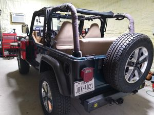 Jeep Wrangler 1979 4x4 engine 2.5 4 Cylinders standard manual transmission Rims and tires brand new 18s from Jeep 2020 tires bridgestone for Sale in Dallas, TX