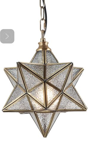 Eumyviv moravian Starkitchen island pendant light with glass cover, modern brass Frame chandelier lamp industrial addition hanging light fixture POO for Sale in La Verne, CA