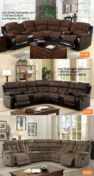 Recliners sofas sectionals couches/No Credit Needed No Credit Check Apply Today for Sale in Downey, CA
