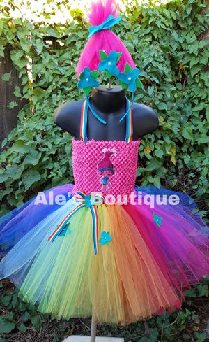 Trolls tutu dress for Sale in Puyallup, WA