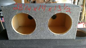 """Dual 10"""" sub box sealed and divided for Sale in Lehigh Acres, FL"""