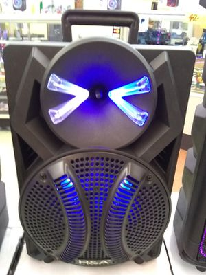 Rechargeable brand new 2,000 watt Bluetooth speaker comes with microphone and remote control... for Sale in Washington, DC