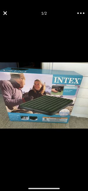 new in box air mattress also a new pump & slim cooler for Sale in Mill Creek, WA