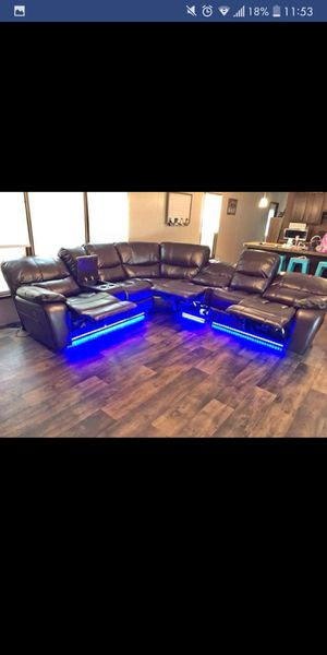 Brand New Recliner Sectional With Led lights for Sale in Austin, TX