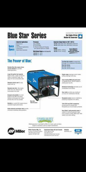 Miller 185 blue star gas generator and welder for Sale in Philadelphia, PA