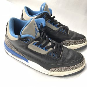 Nike Air Jordan III 3 Retro Black Sport Blue Wolf Gray Sz 11 for Sale in Atlanta, GA